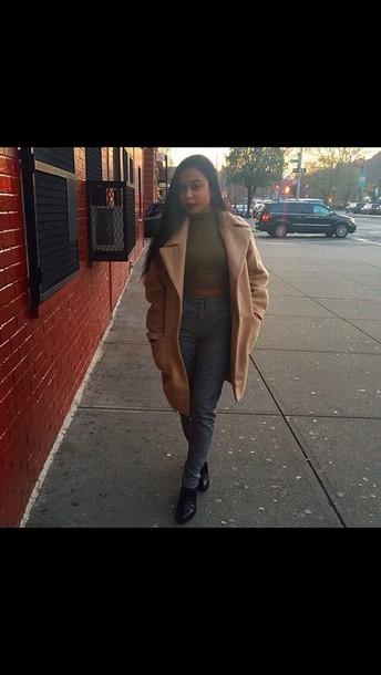 coat coat new york city causal look