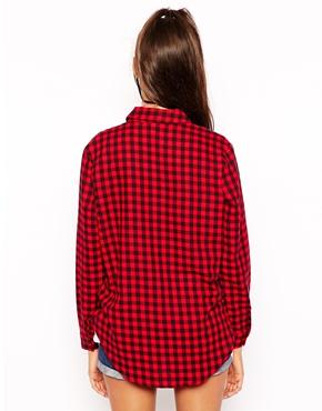 ASOS | ASOS Boyfriend Shirt in red/black Gingham at ASOS