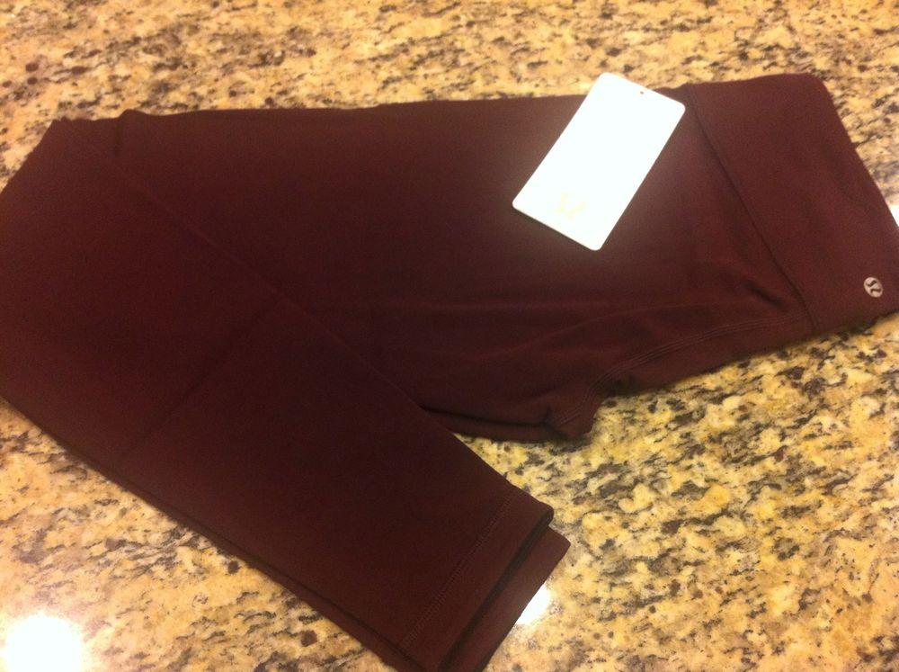 Lululemon Wunder Under Pant Reversible Bordeaux Drama Black Purple Size 6   eBay