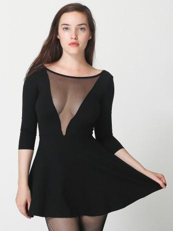 Ponte Gloria V Skater Dress | Mini | Women's Dresses | American Apparel