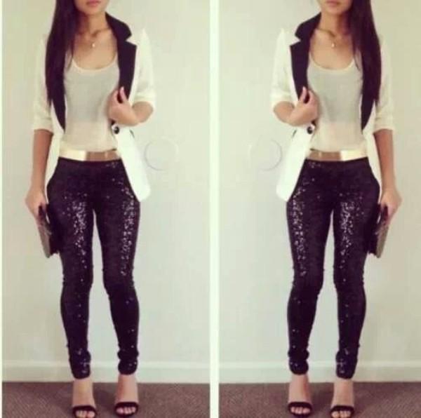 jacket pants jeans sparkle weheartit tumblr instagram tumblr girl glitter pants