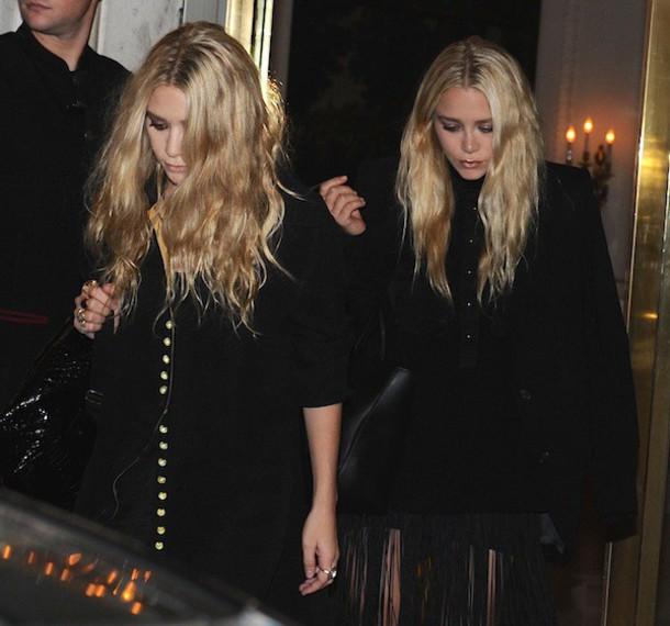 olsen sisters blogger coat black