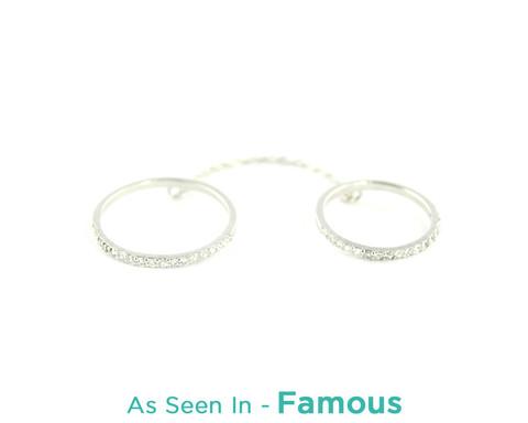 Wanderlust   Co - Double-Bar & Chain Silver Rings