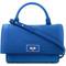 Givenchy shark tooth cross-body bag, women's, blue, buffalo leather