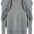 Grey Long Sleeve Removable Turtleneck Tassel Sweater - Sheinside.com