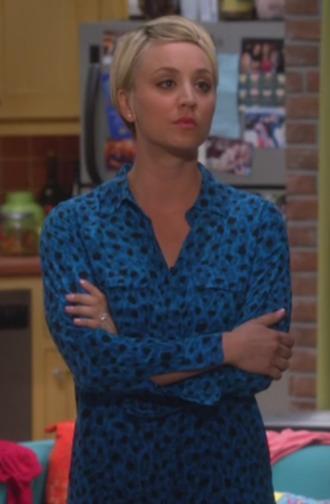 blouse big bang theory penny kaley cuoco leopard blouse