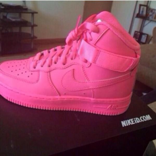 shoes high top sneakers nike pink nike sneakers sneakers