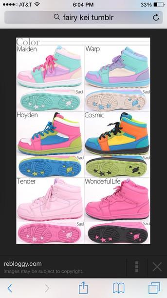 shoes pastel shoes