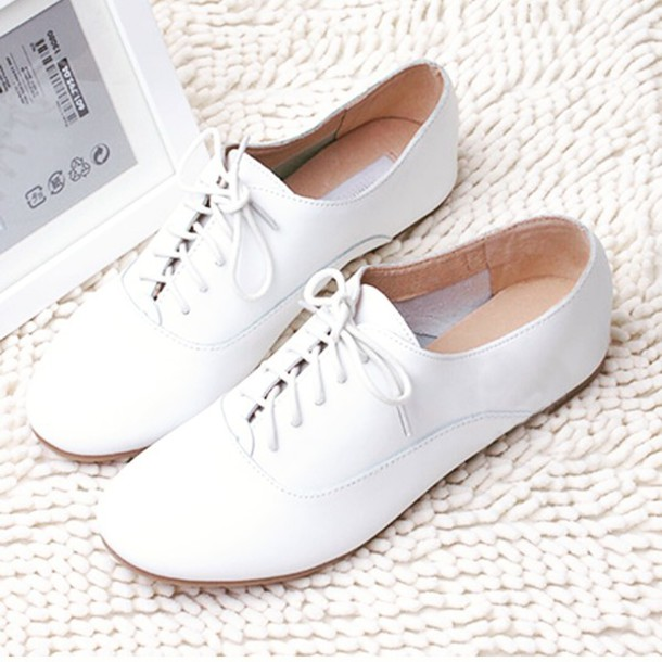 shoes, white, oxfords, girl, girly, pretty, beautiful ...