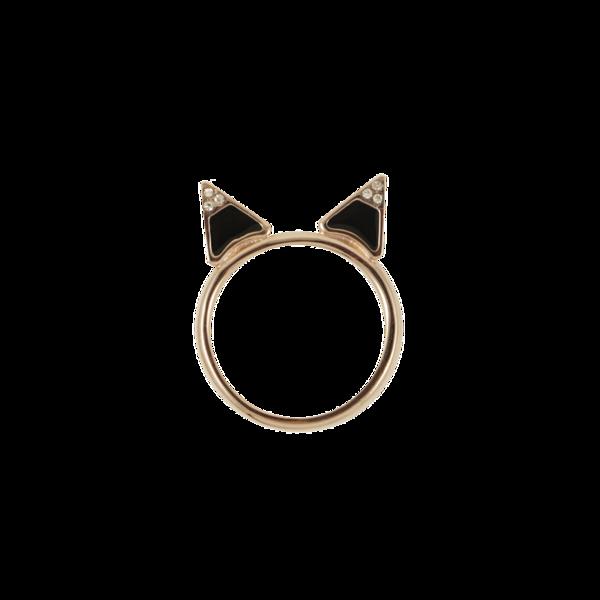 Kitty Ring   Lemon Stripes
