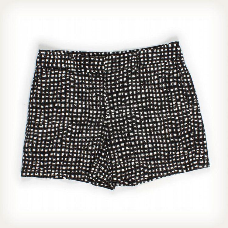 Ann Taylor Loft Chic Black and White Shorts Sz 8 Pants | eBay