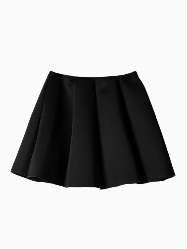 Mini Skirt with Structured Pleats   Choies