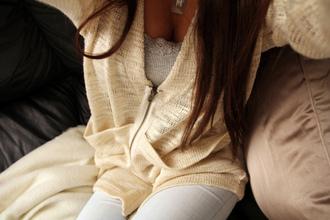 vest veste white laine jacket sweater cardigan zip up zip clothes top bash cute