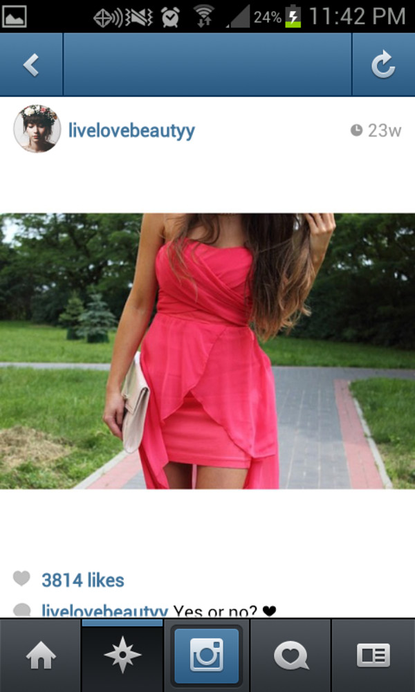 dress pink dress high-low dresses bodycon dress cute dress