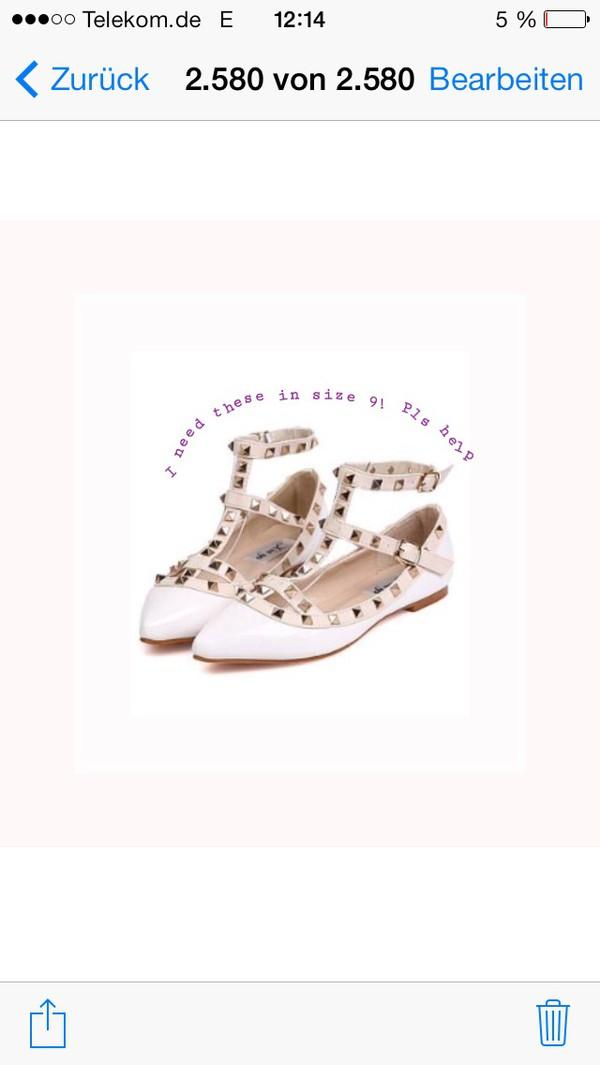 shoes pointy closed toe rivet mary jane flats