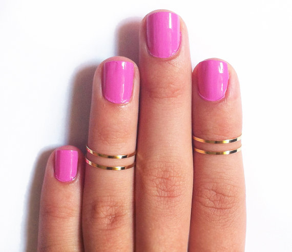 4 Above the Knuckle Rings  Plain Band Knuckle Rings by galisfly