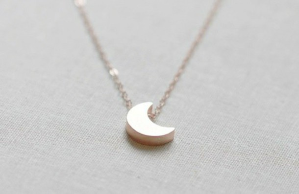 jewels collier gold moon lune collier en or minimalist jewelry