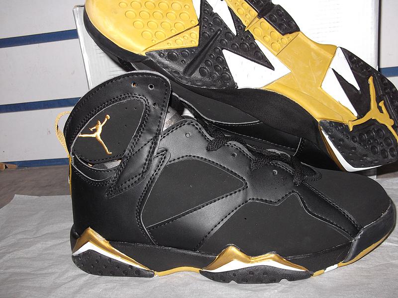 Latest Air Jordan Retro VII Black Gold - $75.00