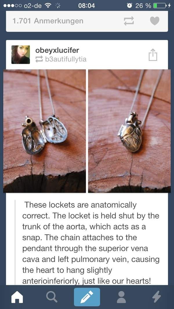 jewels heart medallion