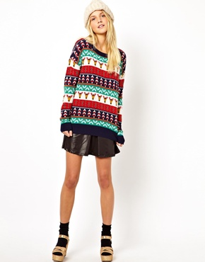 ASOS | ASOS Christmas Pattern Jumper at ASOS