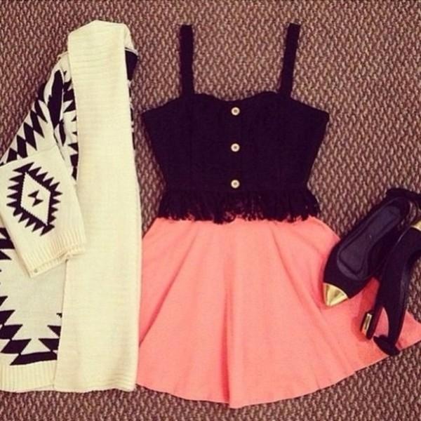 sweater romwe cardigan apricot tribal style tribal pattern dress shoes