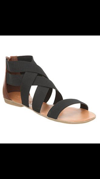 shoes large elastic black bikini summer shoes