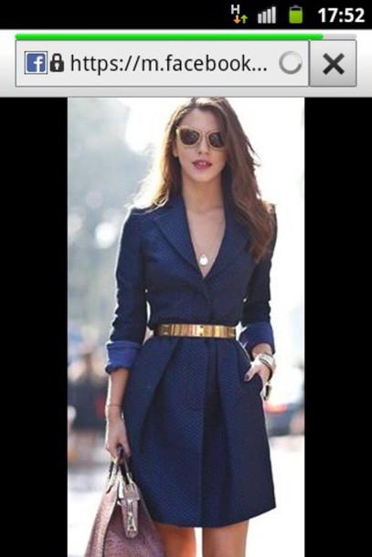 dress navy dress v neck dress belt dress