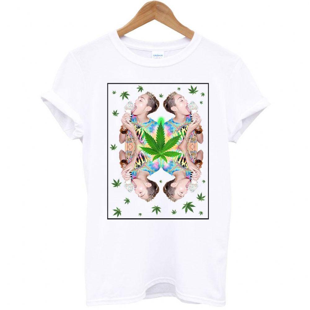 Cyrus Ice Cream Weed Twerk Miley Cyrus T Shirt