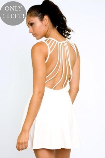 White Suspense Dress- $59