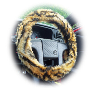 home accessory tiger tiger print steering wheel cover car accessories stripes wild fluffy