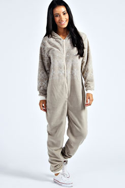 Leisa Fairisle Print Onesie at boohoo.com