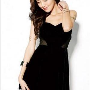 Cross Mesh Halter Dress #ECS011265 on Luulla