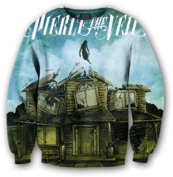 sweater pierce the veil oversized oversized sweater winter sweater band t-shirt tumblr tumblr clothes