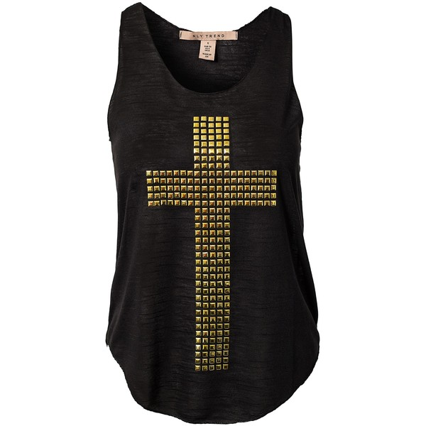 Nly Trend Studded Cross Top - Polyvore
