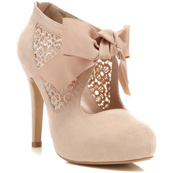 Miss Selfridge Sally Nude Town Shoe - Polyvore