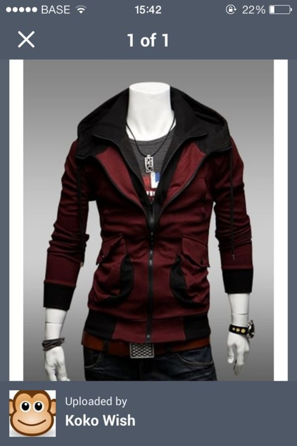 coat red menswear mens coat jacket sexy love more fashionholic cosplay metallic silver cool style