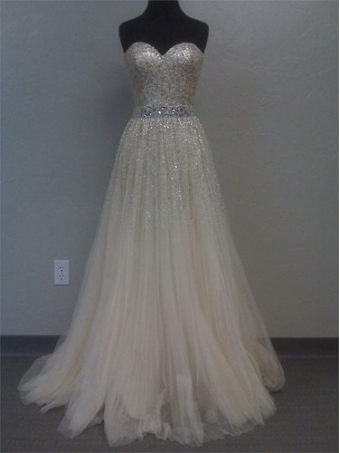 Gorgeous A-line Sweetheart Tulle Prom Dress with Sequins [B0019] - $289.00 : 24inshop