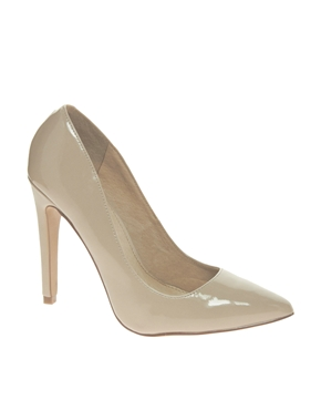 ALDO | ALDO Frited Nude Patent Court Shoes at ASOS