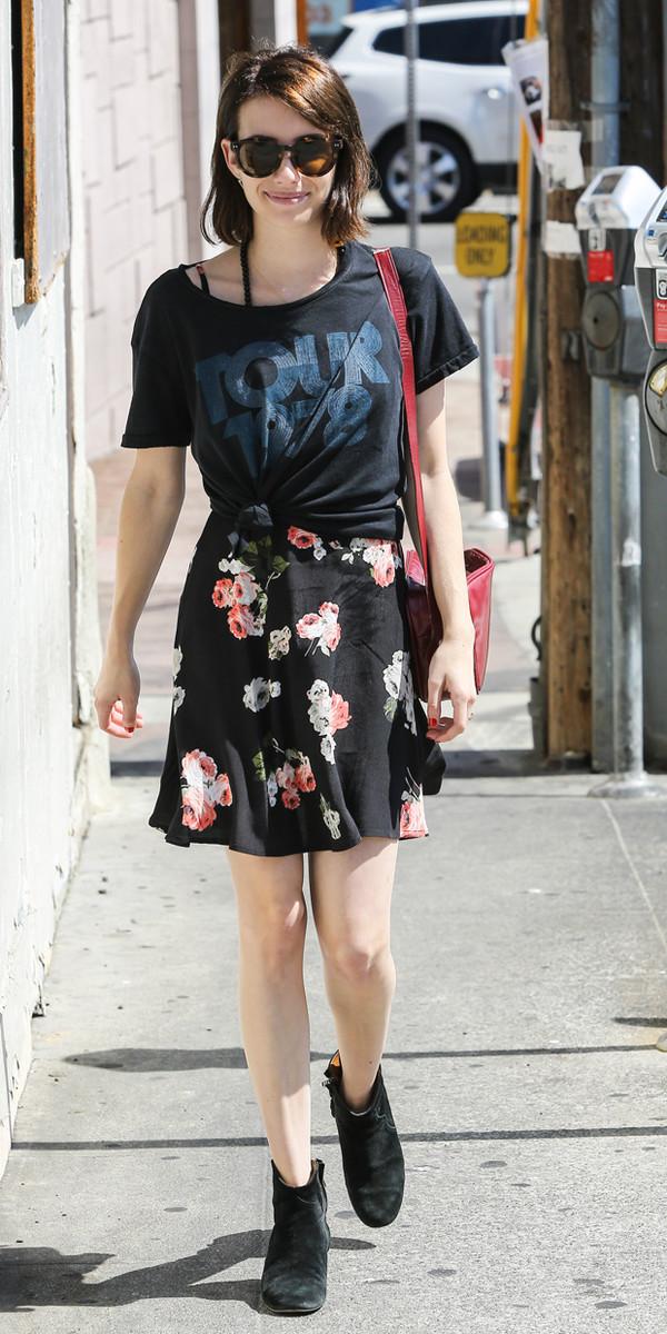 emma roberts dress t-shirt
