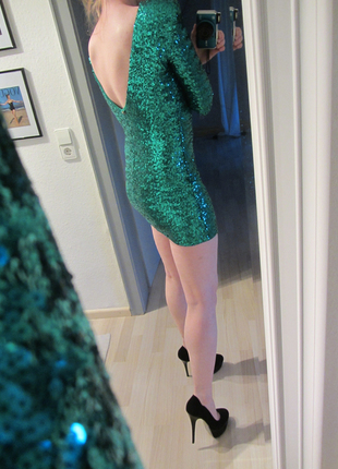 Ivy Revel Dawn grün pailletten kleid mini xs 34 36 party bodycon - kleiderkreisel.de