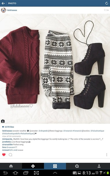 sweater shoes