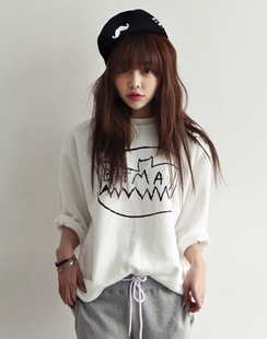 Taobao Spring new authentic Korean imports of hi-lover BATMAN Batman loose T-shirt that is maderuvsvprqiil from English Agent:BuyChina.com