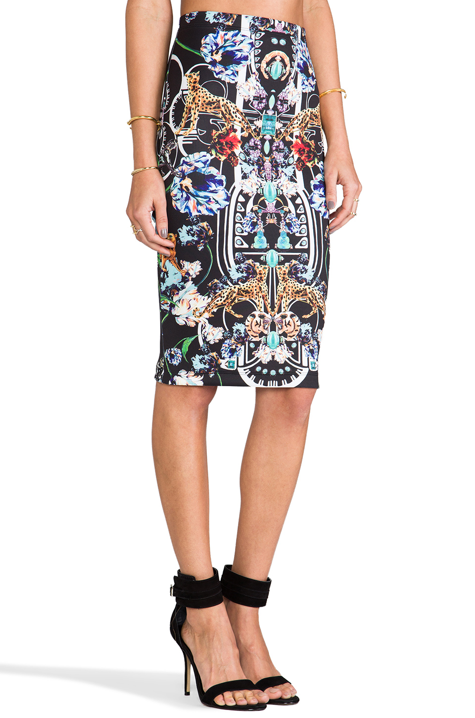 Clover Canyon Gold Panther Skirt in Multi | REVOLVE