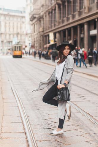 wish wish wish blogger bag hat long cardigan bucket bag