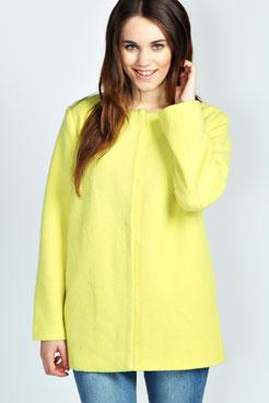 Zara Textured Wool Look Boyfriend Coat at boohoo.com