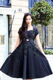 Vintage 60's Leaf Detail Dress | Eco Fashion Ethical Fashion EKOLUV Eco Boutique