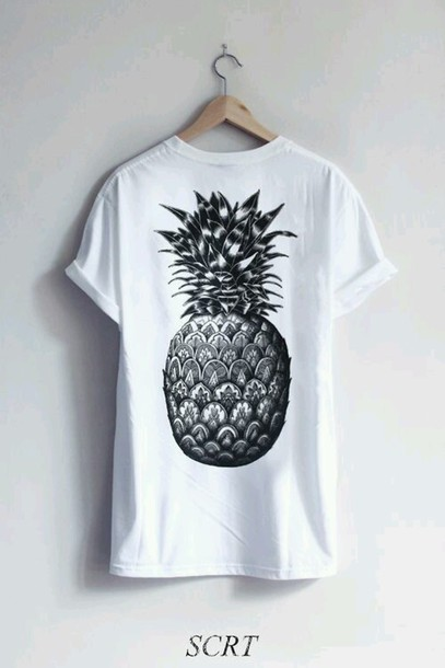t-shirt pinapples graphic tee rolled sleeves rolled up sleeves skater skateboard skater girl printed t-shirt casual swag