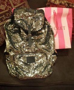 Victoria's Secret Pink Sequins Limited Edition Gold Bling Full Backpack Bag   eBay