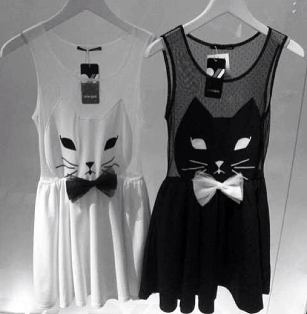dress cat dress black dress white dress