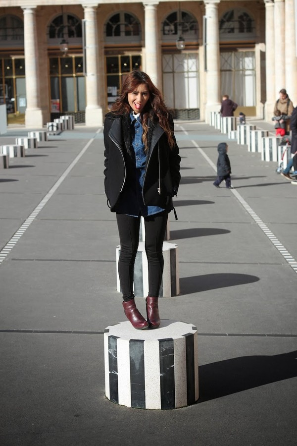 rosa pel's blog jacket jeans shirt shoes